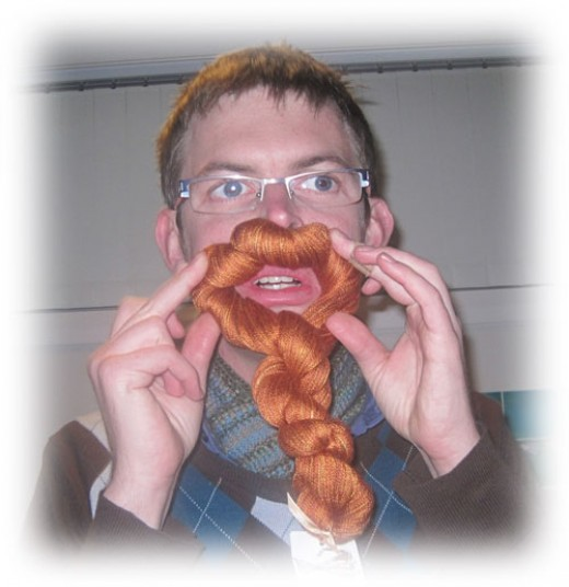 Yarn skein orange beard