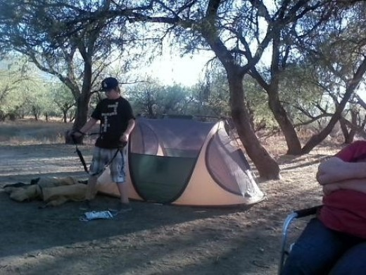 Camping at Catalina State Park, Tucson, Arizona
