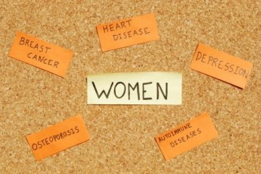 Some of the Health Problems that Afflict More Women than Men
