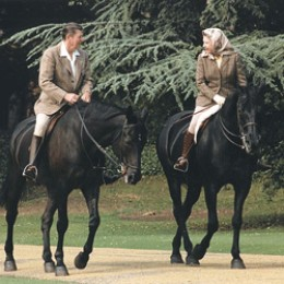 Queen Elizabeth and Ronald Reagan