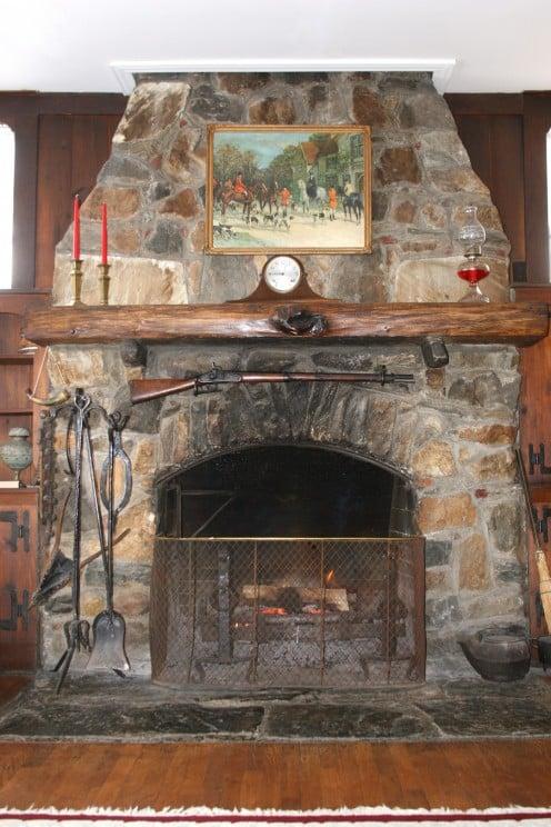 A fine Stone Fireplace
