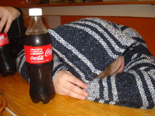Indulging in the pleasures of home... especially since Mexican and Guatemalan versions of Coca Cola do not contain high fructose corn syrup!  Traveling can wear out your tykes, which is a good thing!  Children tend to rest well after a 6 hour walk!