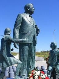 This statue of Mendes - cast in Bronze - was erected in Santarm, Portugal, in honour of his liberation of refugees.
