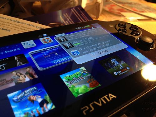 Sony PS Vita Main Screen