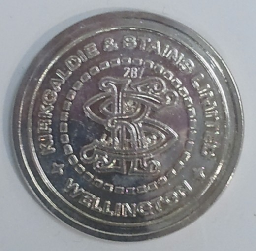 A pre-currency token from Wellington's grand old store Kirkaldies on Lambton Quay