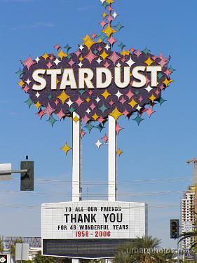 Stardust Las Vegas marquee, December 25, 2006