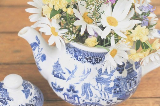 Teapot flower arrangements