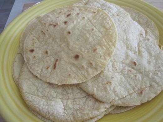 flour tortilla shells