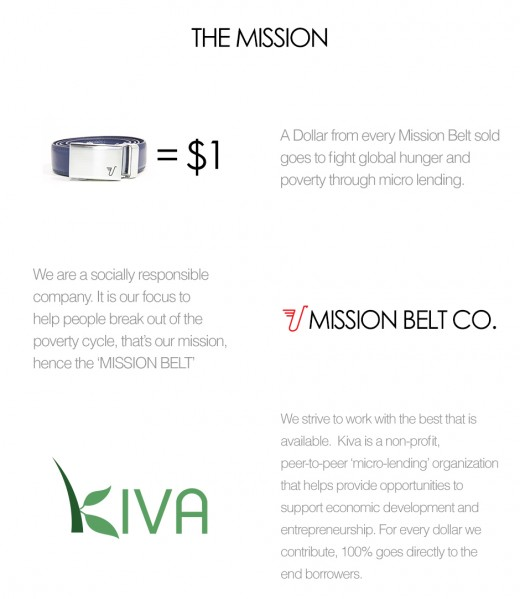Buy a belt and save a family is a great mission!  This graphic is from the Missionbelt.com website