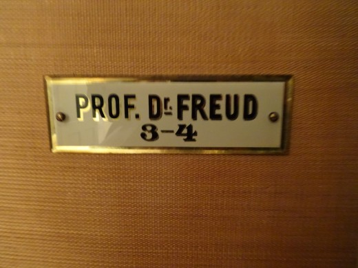 The name plate on the door of his chambers