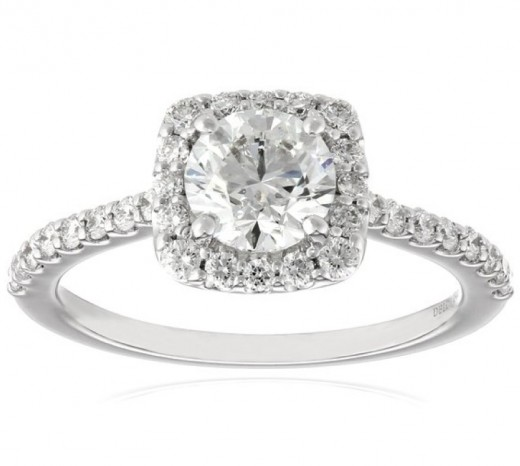 Get a 1.5 ct tw halo engagement ring delivered to your door by tomorrow!
