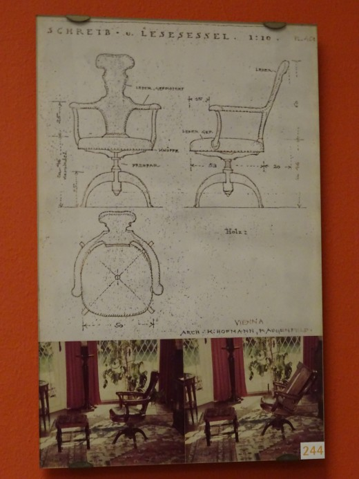 The design sketch for Freud's unique chair.