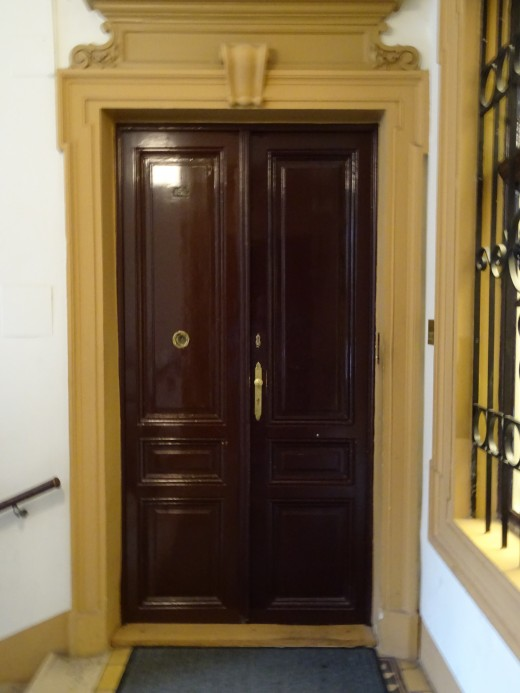 The door to Freud's Rooms as it appears today.