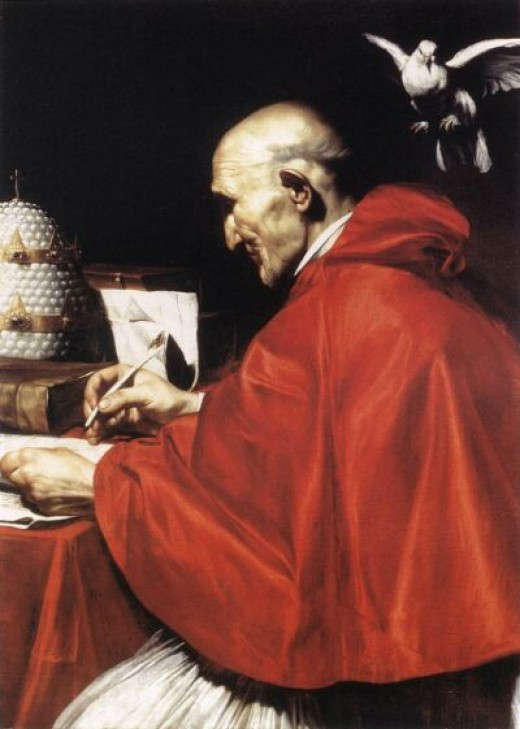 """Pope Gregory I,"" c. 1610, after Carlo Saraceni"