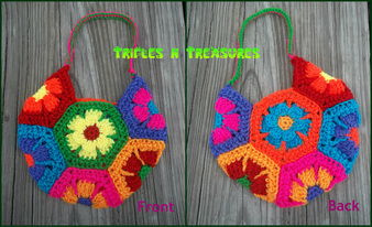 Crochet Flower Child Bag
