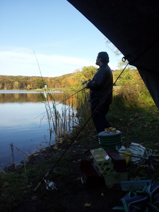Personal photo -- my fishing spot