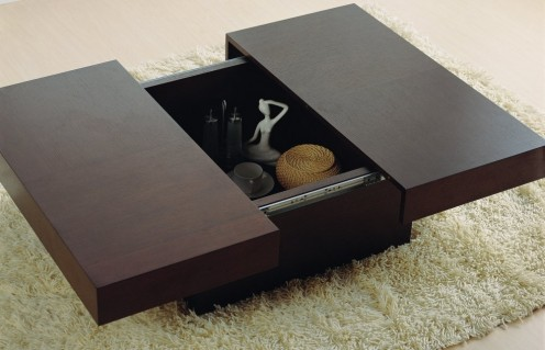 """Square Black Coffee/Cocktail Table without Storage Underneath: 31.5"""" x 31.5"""""""