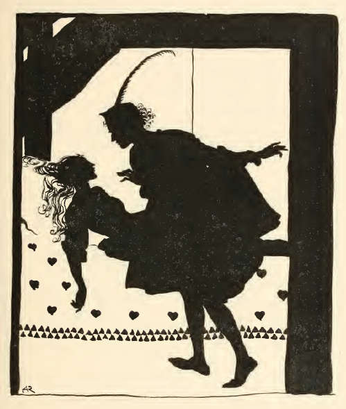 Black and white illustration of Briar Rose by Arthur Rackham