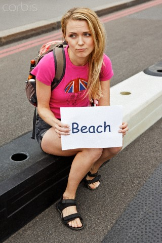 This girl wants' to head to the beach