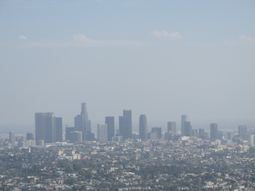 View of downtown LA from the Griffith Observatory