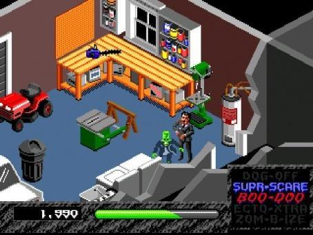 The garage in the first house was basically the first time that you realized how fun this game was going to get. That chainsaw there giving you any ideas? How about the table saw? Yeah, this game rules.