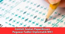 Pegawai Tadbir Diplomatik Exam Questions Examples