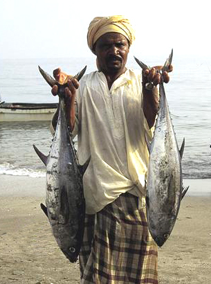 A fisherman with his Catch of the Day