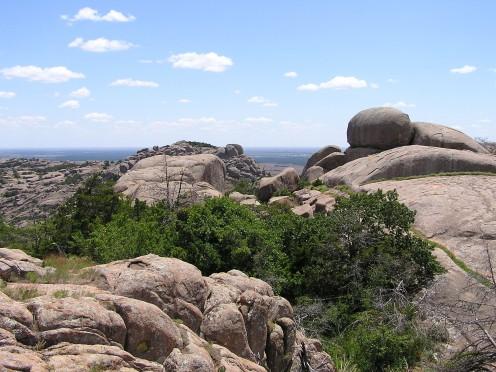 Beautiful granite boulders.