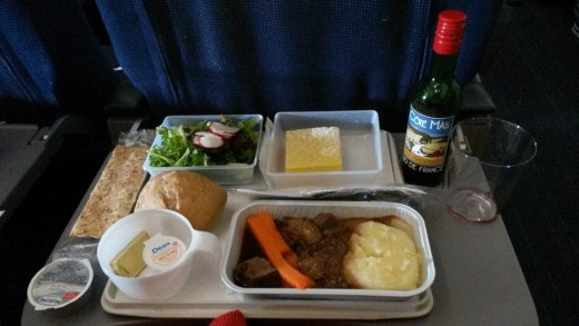 I love European international flights.You get fed real food with French wine .Not your typical airline food.