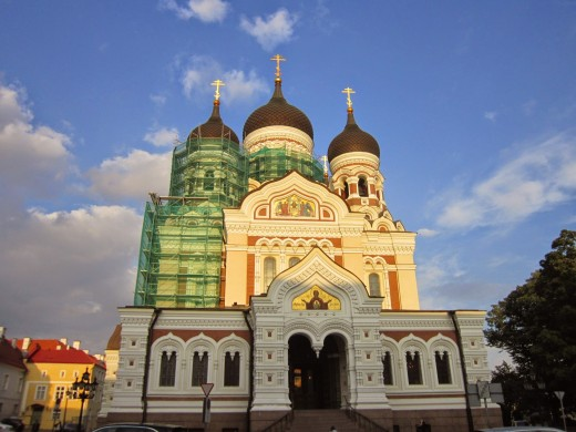 Alexander Nevsky Cathedral-Tallin,Estonia.I feel like a pro taking this shot .