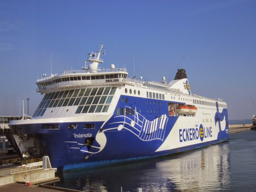 Eckero Line Cruise ship ferry I embarked on  to Tallinn,Estonia