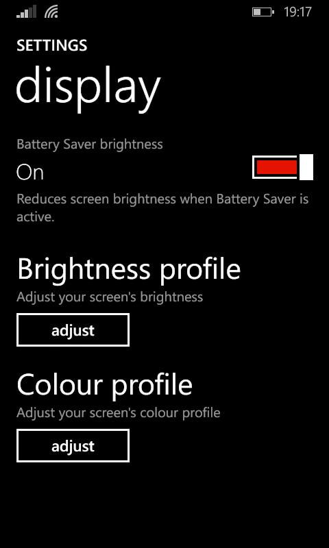 630 Display Adjustment