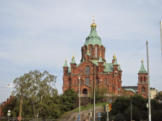 Uspenski Cathedral- an Eastern Orthodox cathedral in Helsinki, Finland
