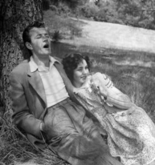 Jennifer Jones and first husband, Robert Walker