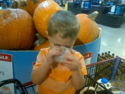 Grocery Shopping with Liam...a Tutorial on Being Inept in the World of a Two Year Old