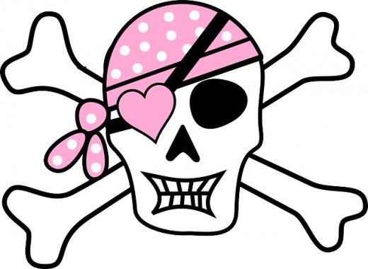 Pink Pirate Skull
