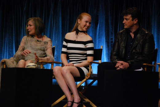 Molly Quinn with other Castle cast members