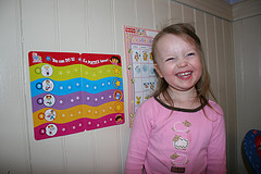 Almost finish all the sticker on her potty chart.