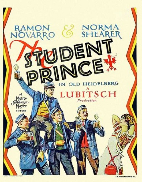 """The Student Prince"" movie poster"