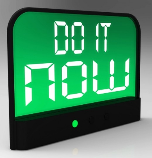 Do It Now Clock - Take Urgent Action