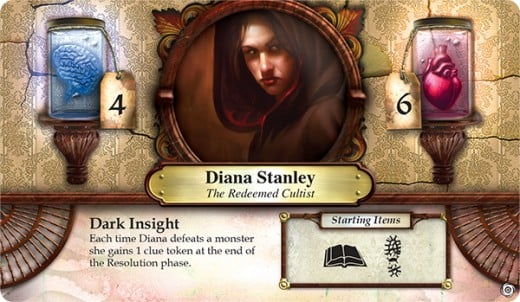 A new Elder Sign character from the expansion set