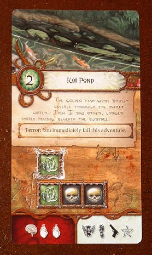 The Koi Pond, one of the more difficult cards in Elder Sign