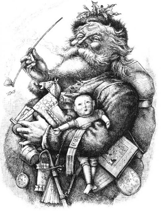 Jolly Old St. Nicholas Engraving