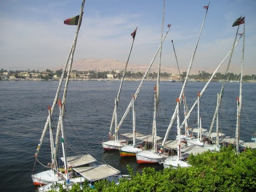 The northern section of the Nile flows through desert, bringing fertility to an area that would otherwise be barren.  It is this geography that has contributed to making the area a cradle of civilization for thousands of years.