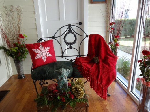 A Southern Sunroom with Simple Holiday Touches