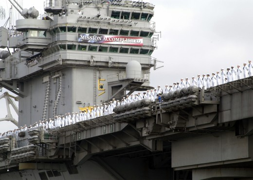 Dubya's infamous 'Mission Accomplished' fail aboard USS Lincoln
