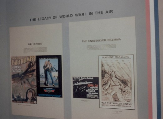 Poster boards at the National Air & Space Museum's World War I exhibit.