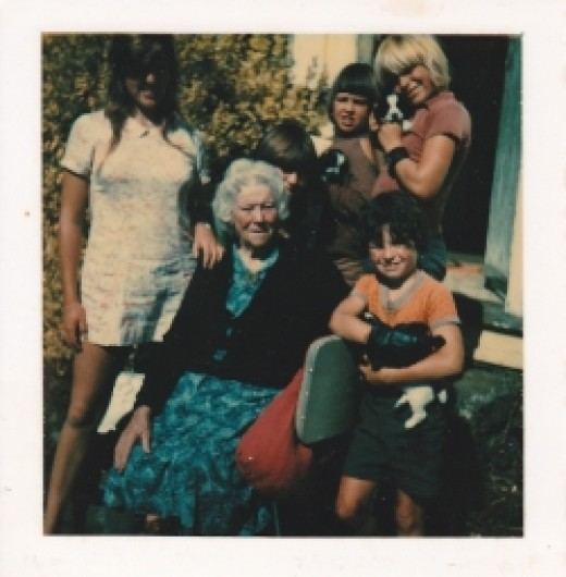 My Grandmother with my five children. Photo Credit - Elsie Hagley