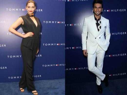 Bollywood stars Sonam Kapoor and Ranveer Singh were seen at Tommy Hilfiger's private party, to celebrate 10 years of brand's presence in India.