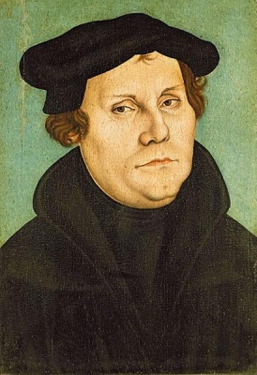 Portrait of Martin Luther by Lucas Cranach the Elder (1472–1553)